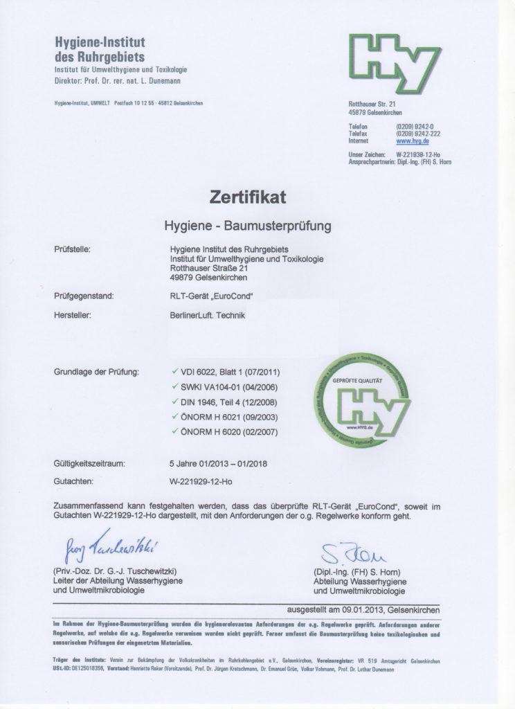 Zertifikat-Baumusterprufung-Berliner Luft