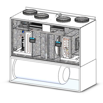 iq aqva - Припливно-витяжна установка з тепловим насосом IQvent Duo Akva