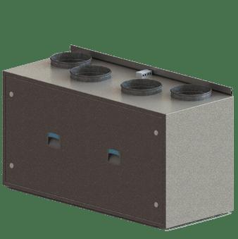 компактна припливно витяжна установка з роторним рекуператором iqvent minima