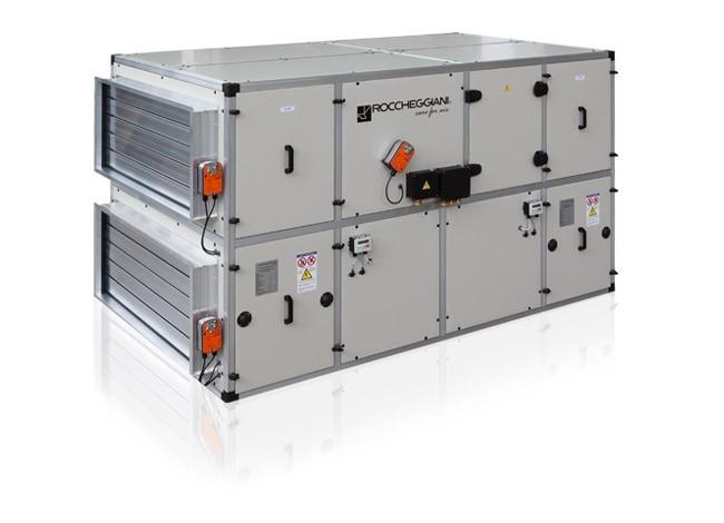 приточно вытяжной агрегат с рекуператором roccheggiani he hru