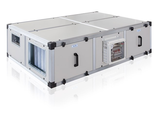 припливно витяжна установка з рекуперацією тепла і охолодженням Roccheggiani hru