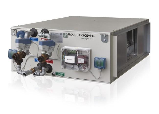 компактна вентиляційна установка з рекуператором Roccheggiani tcl