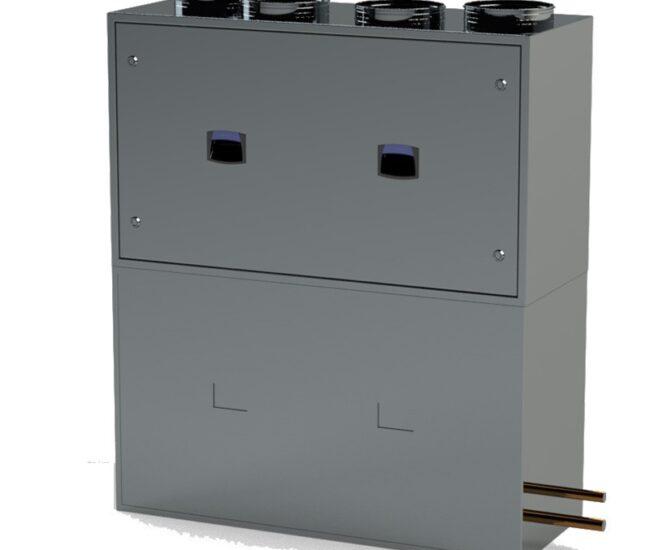 приточно-вытяжная установка со встроенным тепловым насосом IQvent Duo Akva