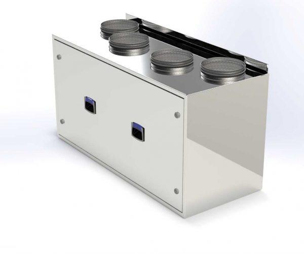 компактная приточно вытяжная установка с рекуператором Optima