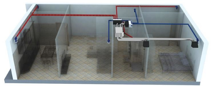 вариант подключения вентиляционной установки